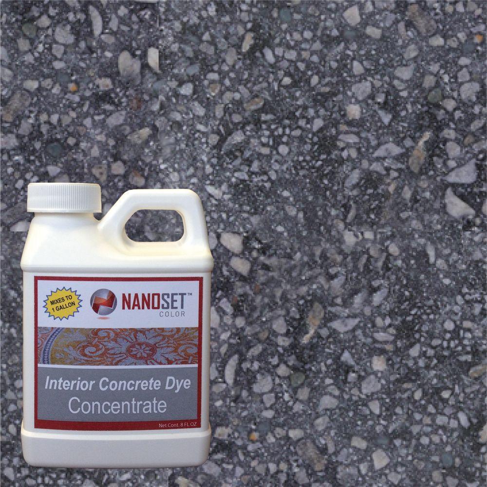 NanoSet Color 8-oz. Jet Stone Interior Concrete Dye Stain Concentrate