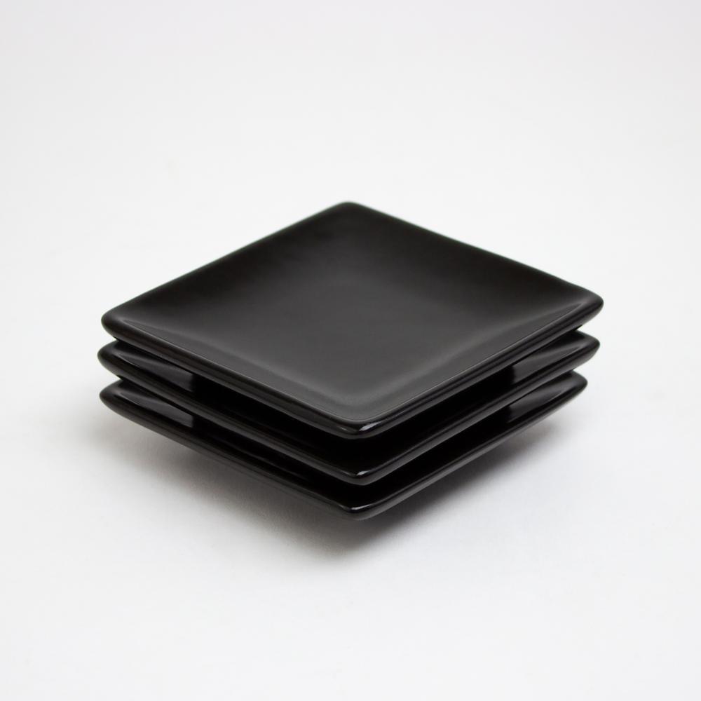 La Marsa Onyx Condiment Square Dish  (Set of 3)