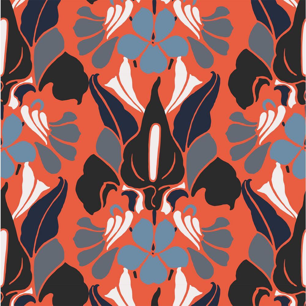 Debut Collection Dragon Flower Premium Matte Wallpaper