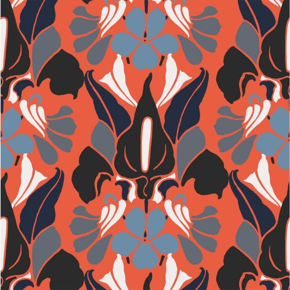 Mitchell Black Debut Collection Dragon Flower Premium Matte Wallpaper WC361-3-PM-18
