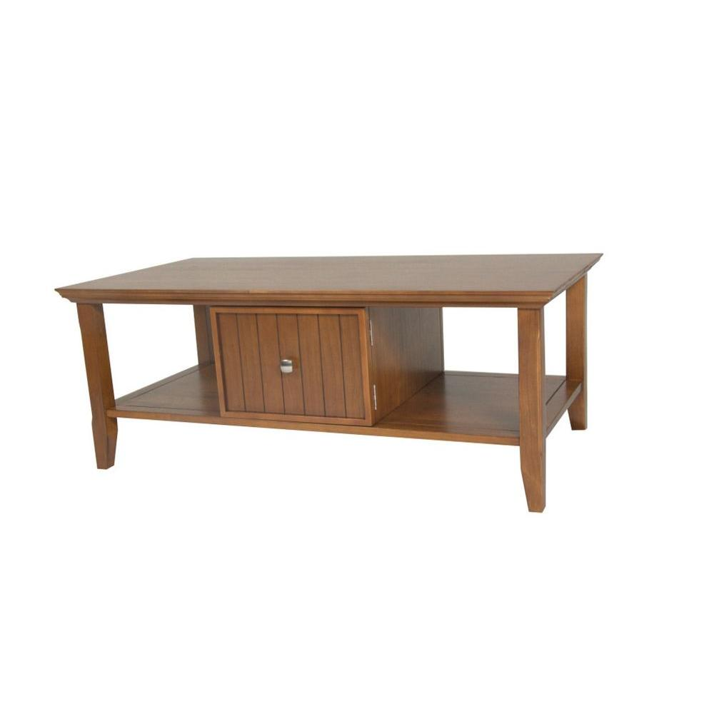 Simpli Home Acadian Light Brown Coffee Table-DISCONTINUED
