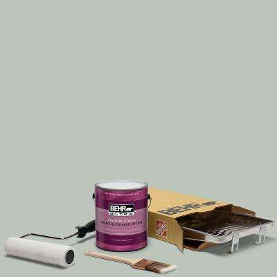 1 gal. #N410-3 Riverdale Ultra Eggshell Enamel Interior Paint and 5-Piece Wooster Set All-in-One Project Kit
