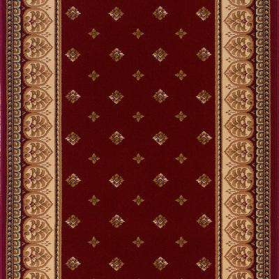 Sapphire Fleur De Lis Claret 2 ft. 2 in. x Your Choice Length Stair Runner