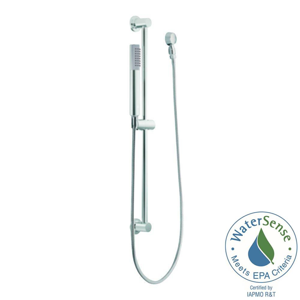 Eco 1-Spray Handshower with Slide Bar in Chrome
