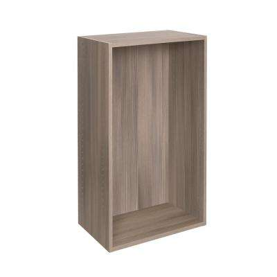 15 in. D x 24 in. W x 42 in. H Textured Platinum Assembled Melamine Closet System Wall Cabinet