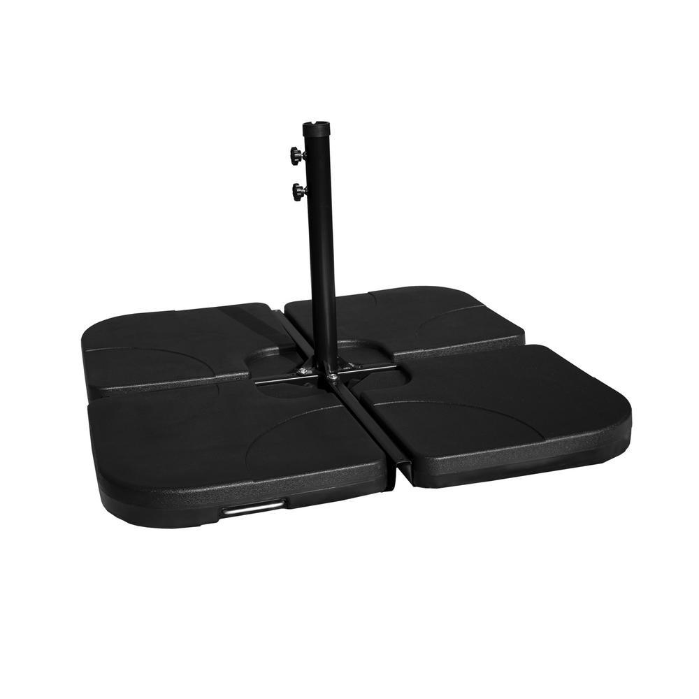 4-Piece Universal Standard Cross Patio Umbrella Base in Black