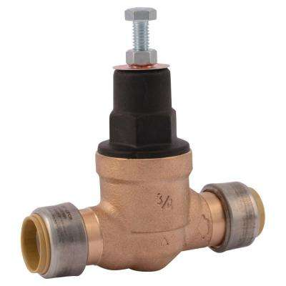 3/4 in. Push-to-Connect Bronze EB-45 Direct Pressure Regulator Valve