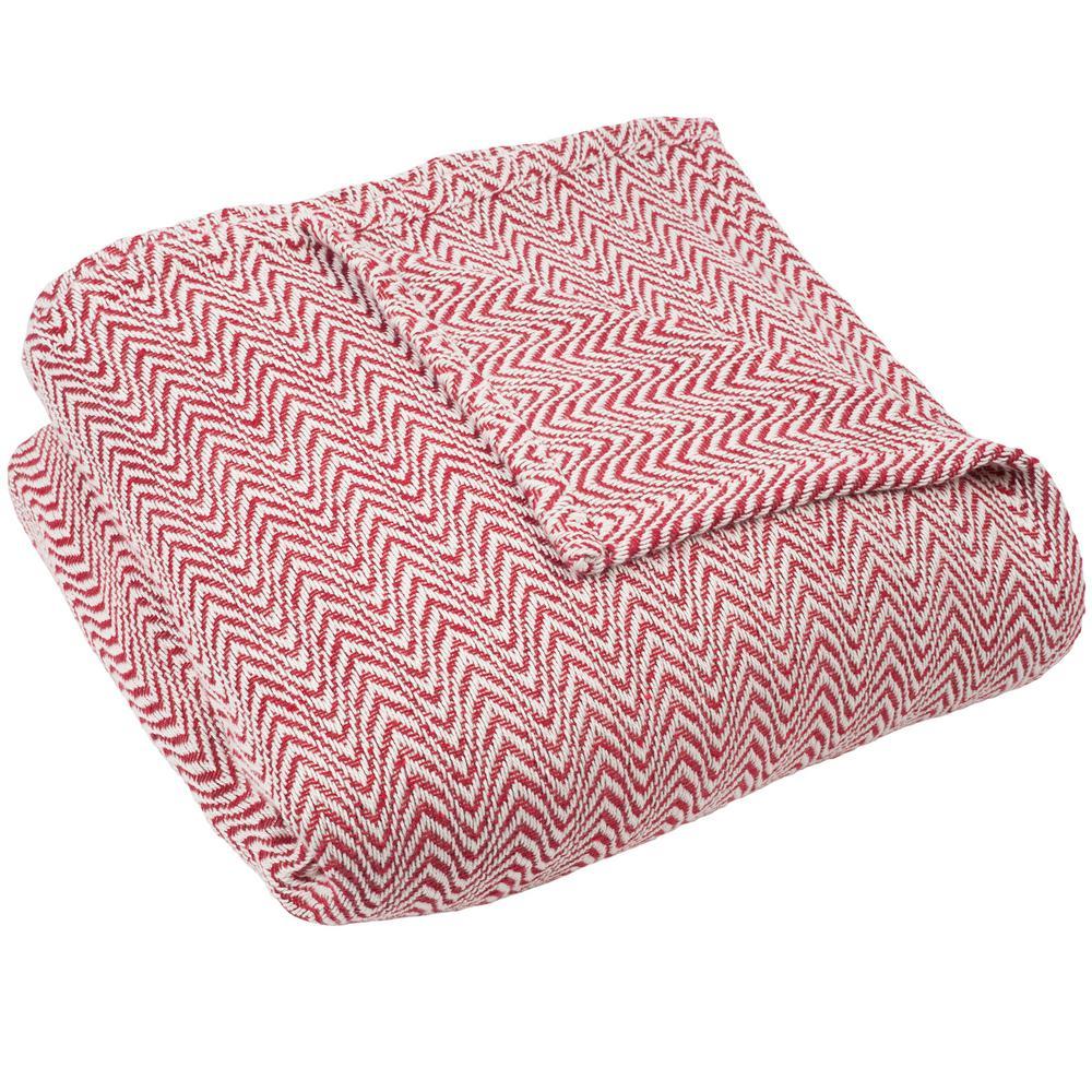 Chevron Brick 100% Egyptian Cotton King Blanket