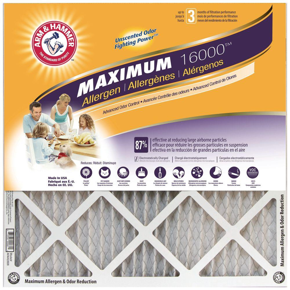 20 in. x 20 in. x 1 in. Maximum Allergen and