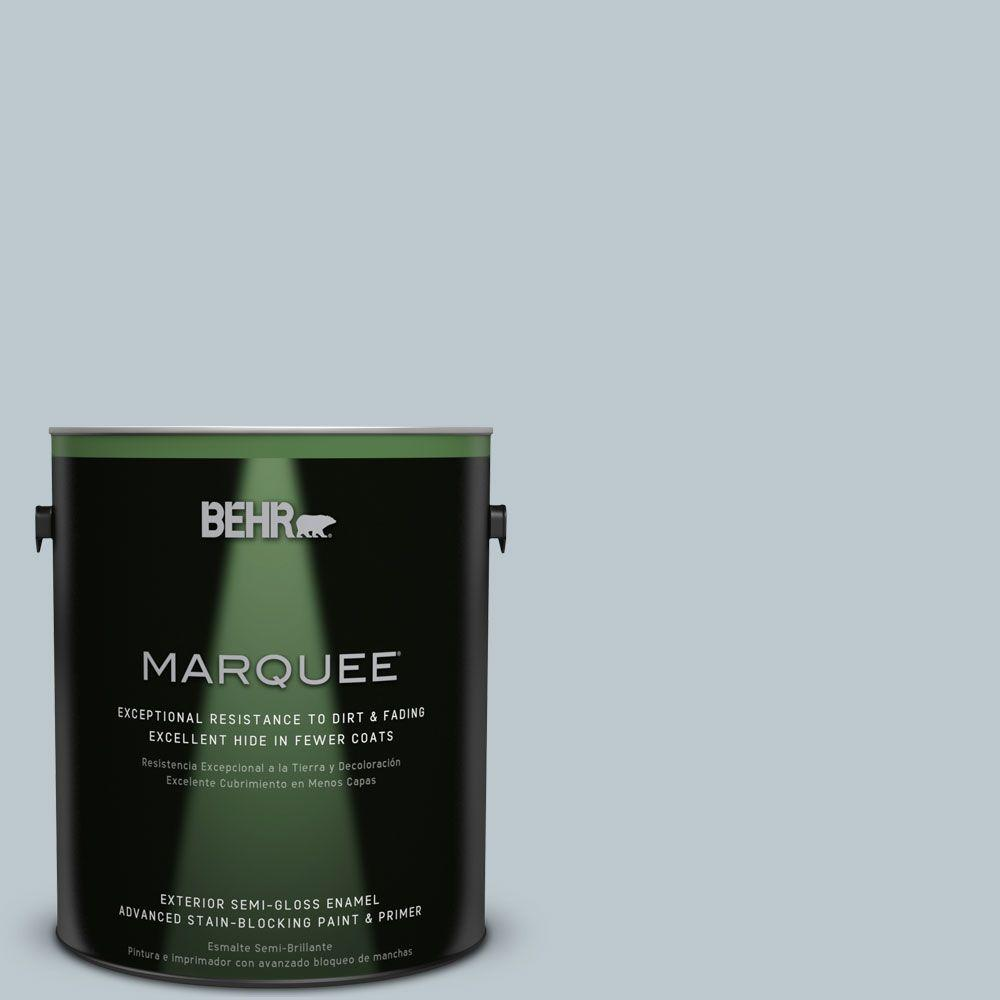 BEHR MARQUEE 1-gal. #N470-2 Oceanic Climate Semi-Gloss Enamel Exterior Paint