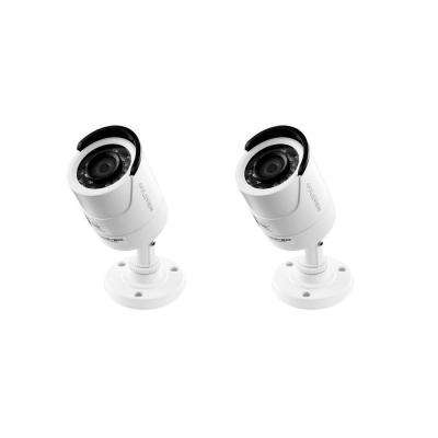 Wired 1000 TVL 1.3 Megapixel Indoor or Outdoor Superior Resolution Security Standard Surveillance Camera (2-Pack)