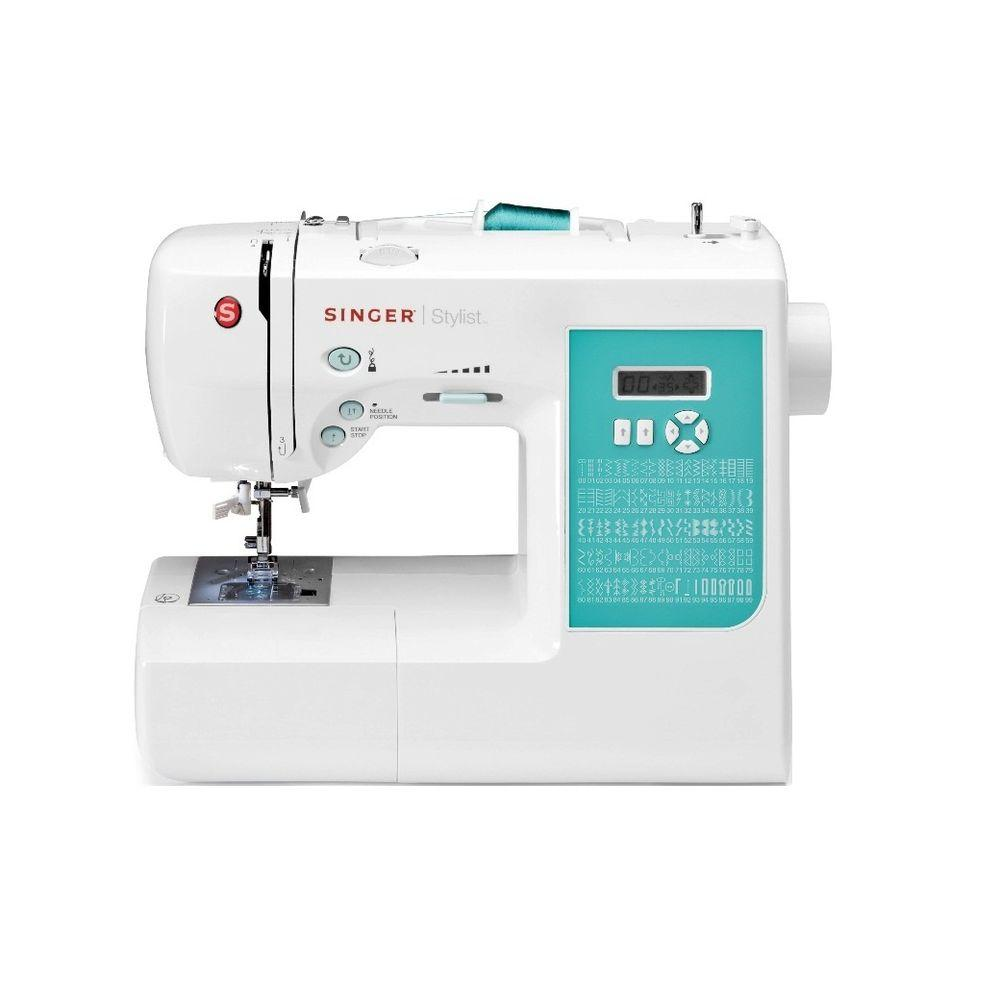 Stylist 100-Stitch Sewing Machine, White The SINGER STYLIST 7258 sewing machine is highly ranked by consumers for performance, ease of use, features, quality of construction, warranty, efficiency, styling, and maintenance and service requirements. Offering 100 built-in stitches, the Singer 7258 Stylist includes a large variety of stitches for all types of sewing, such as fashion sewing, quilting, heirloom, crafts, home and decorative sewing. Automatic buttonholes and automatic needle threader are just a few features that make this an award winning sewing machine. Color: White.