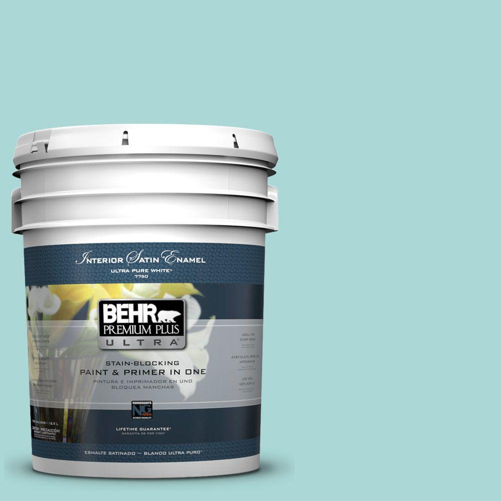 5 gal. #510C-3 Rivers Edge Satin Enamel Interior Paint and Primer
