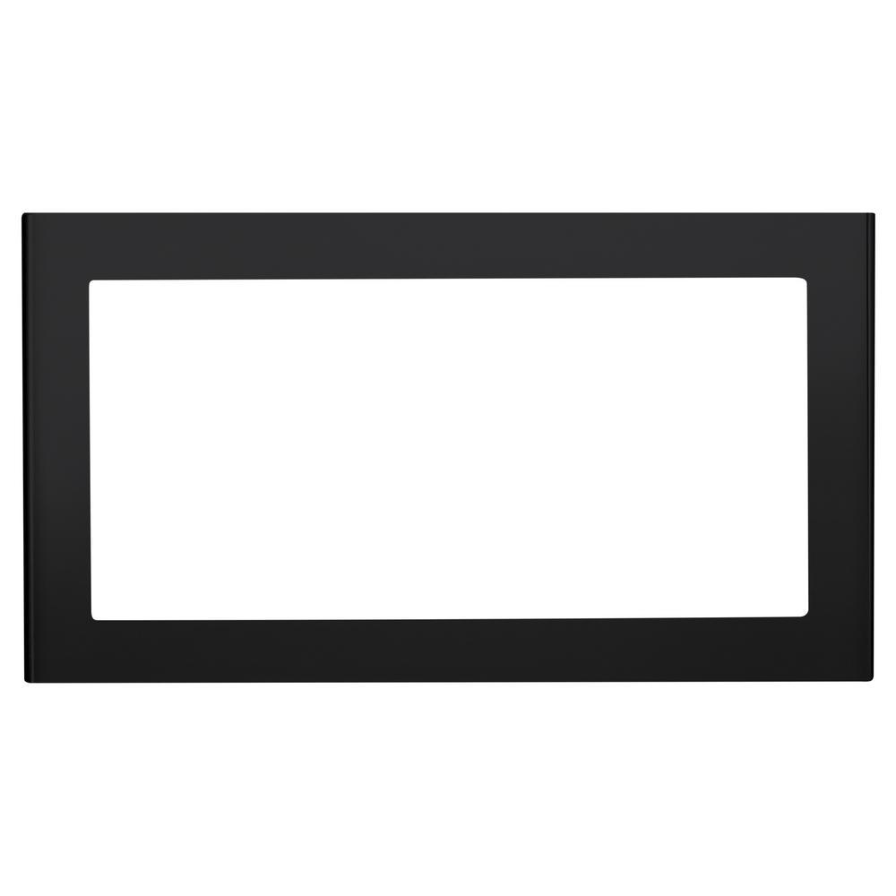 GE 27 in. Built-In Microwave Trim Kit in Black Slate, Fingerprint Resistant