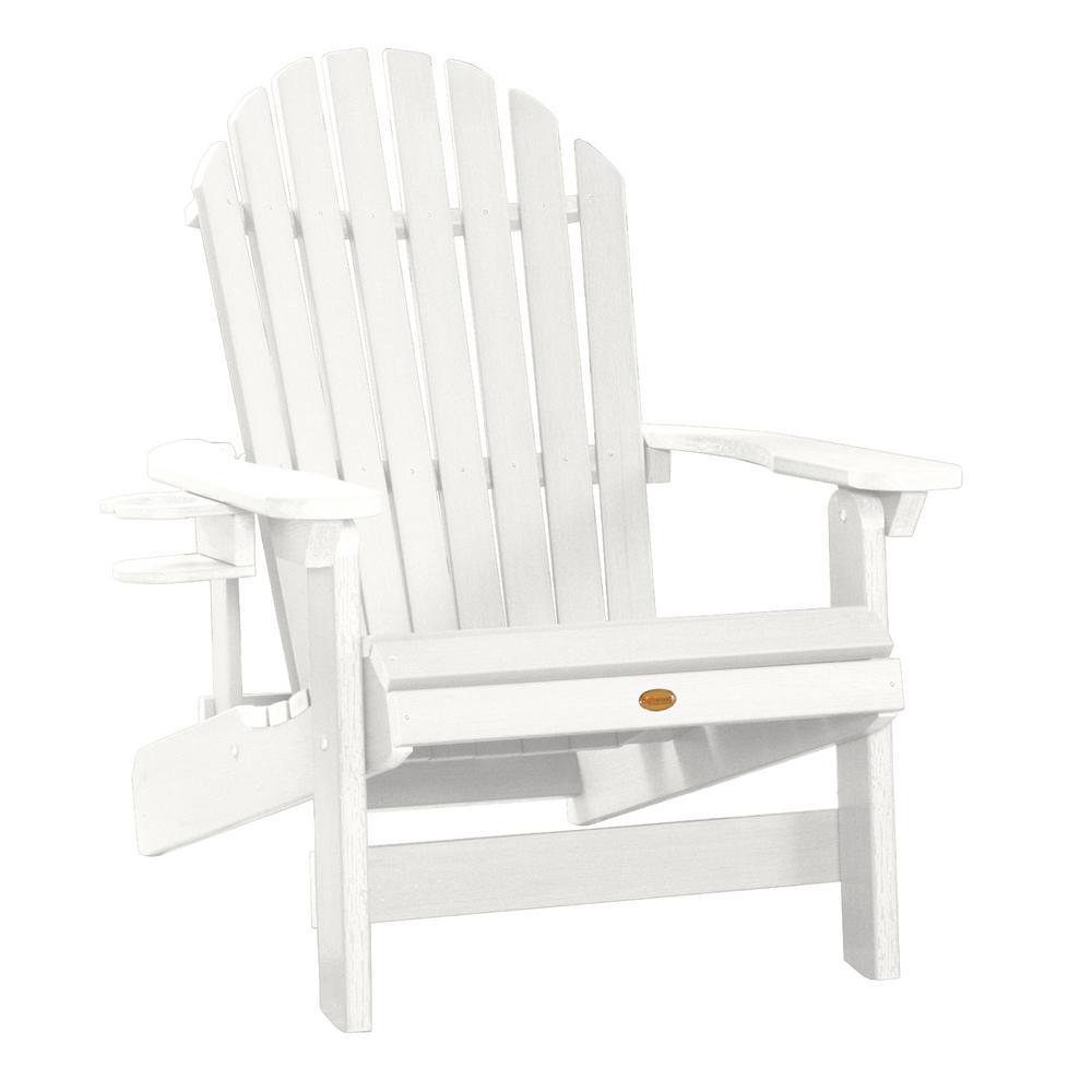 Amazing Highwood King Hamilton White 2 Piece Recycled Plastic Outdoor Seating Set Spiritservingveterans Wood Chair Design Ideas Spiritservingveteransorg
