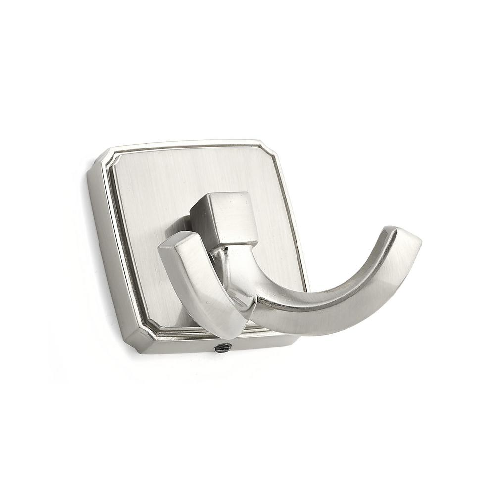 2-1/8 in. (53.6 mm) Brushed Nickel Decorative Hook