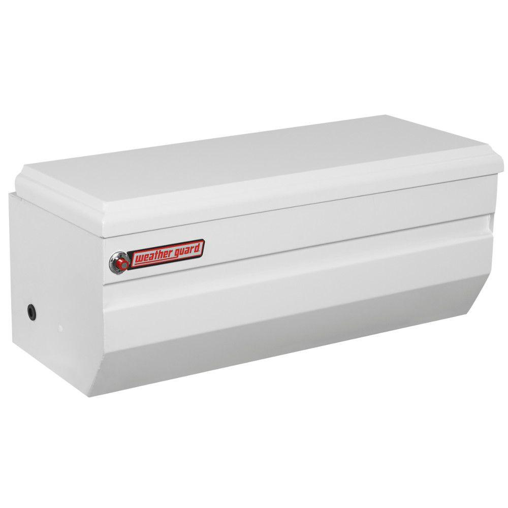 Weather Guard 47 White Steel Full Size Chest Truck Tool Box