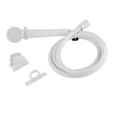 1-Spray RV Handheld Showerhead and Hose in White
