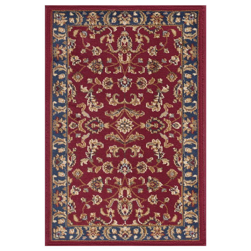 Tayse Rugs Sensation Red 2 ft. x 3 ft. Transitional Area Rug