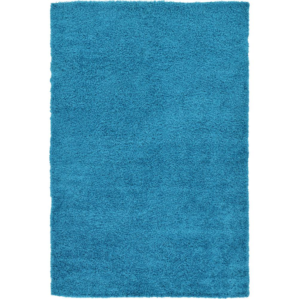 Linoleum Rug Turquoise Terracotta Area Rug Or Kitchen Mat: Unique Loom Solid Shag Turquoise 7' X 10' Rug-3126263