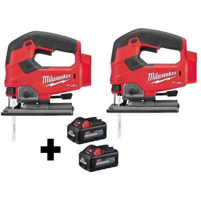 M18 FUEL 18-Volt Lithium-Ion Brushless Cordless Jig Saw (2-Tool) with (2) 6.0Ah Batteries