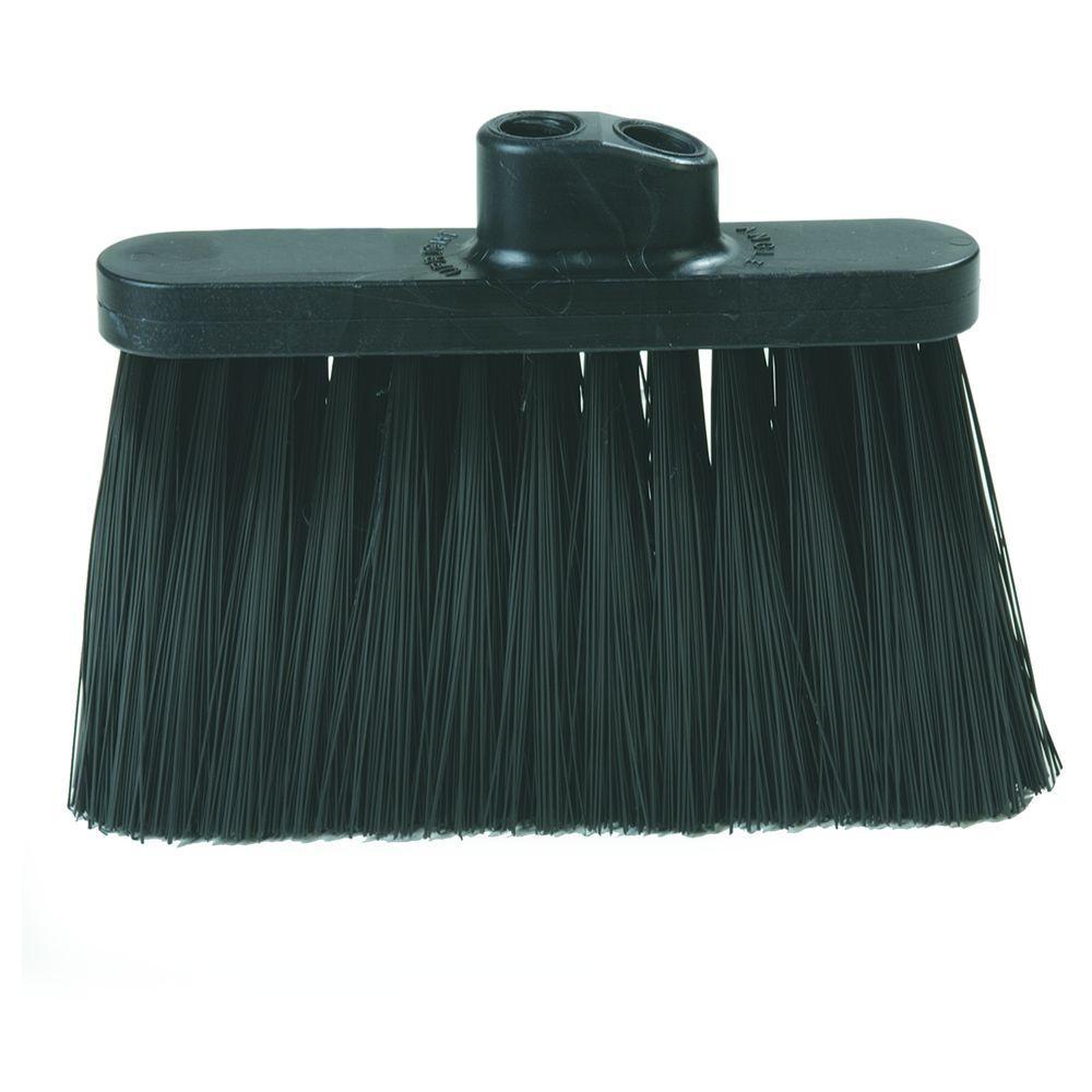13 in. Duo-Sweep Heavy-Duty Broom Head Only in Black (Case of