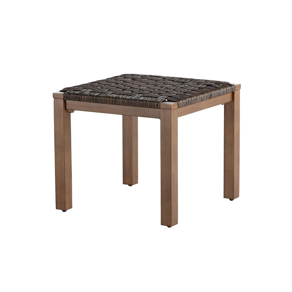 hampton bay kapolei wicker outdoor side table the home depot. Black Bedroom Furniture Sets. Home Design Ideas