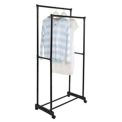 29 in. L x 62 in. H Black Steel Garment Rack
