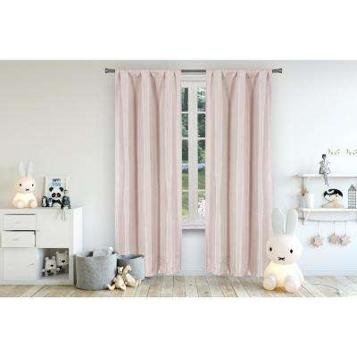 Miranda 37 in. W x 84 in. L Polyester Window Panel in Pretty Pink