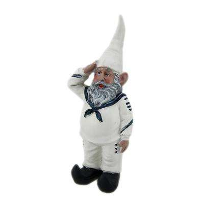 8 in. G.I. Gerald Saluting Sailor U.S. Navy Military Gnome Garden Statue