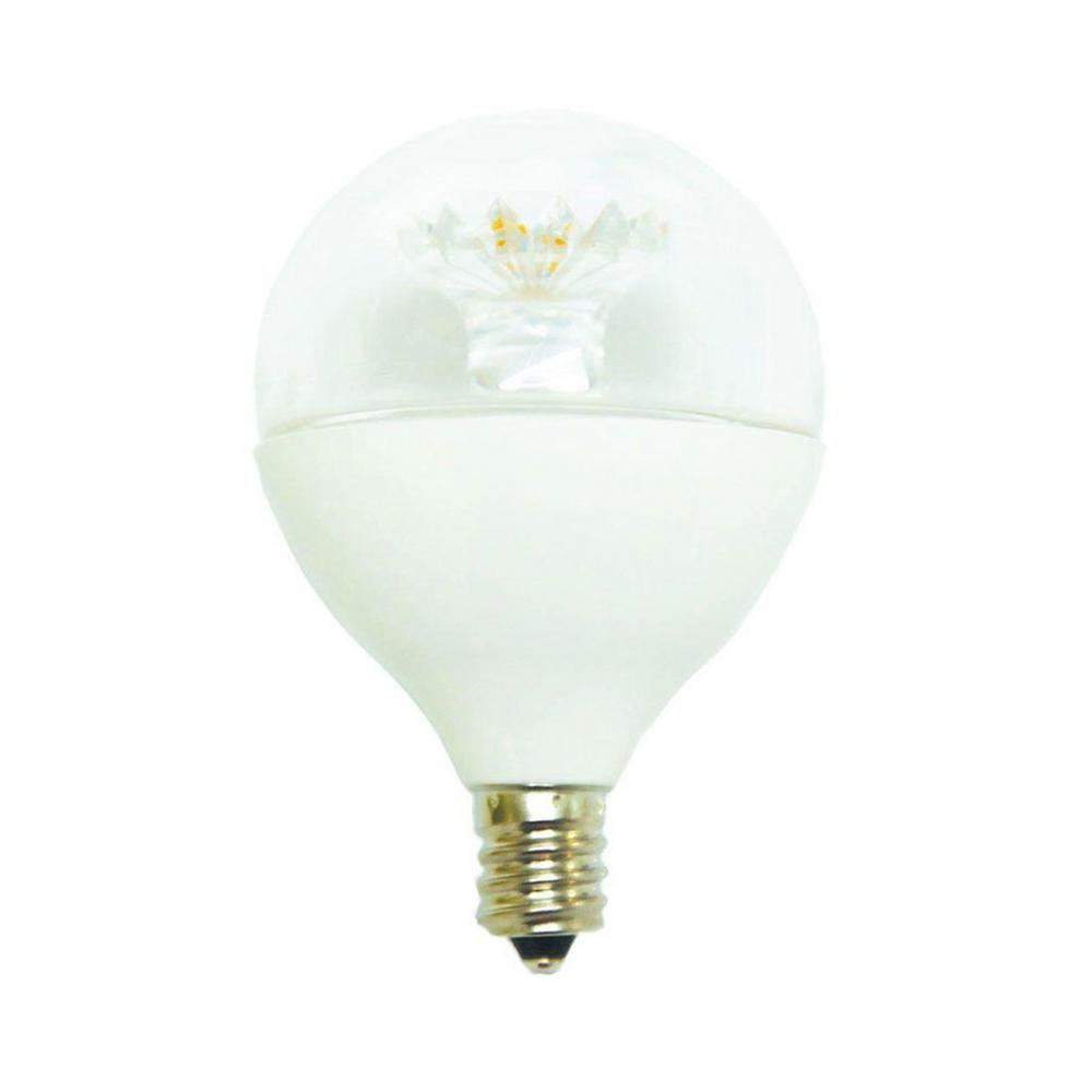 60W Equivalent Daylight G16.5 E12 Dimmable Clear LED Light Bulb (12-Pack)