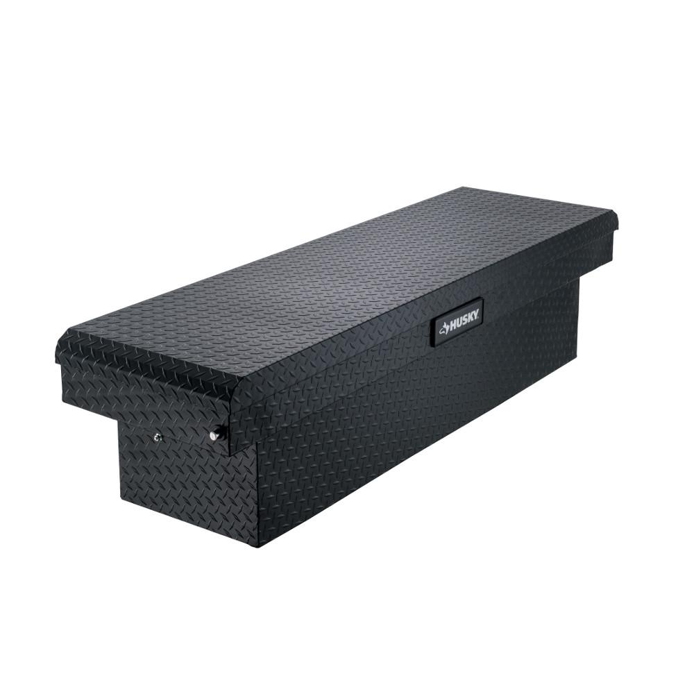 Husky 71.36 Matte Black Aluminum Full Size Crossbed Truck Tool Box