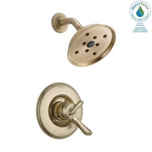 Linden 1-Handle H2Okinetic Shower Only Faucet Trim Kit in Champagne Bronze (Valve Not Included)