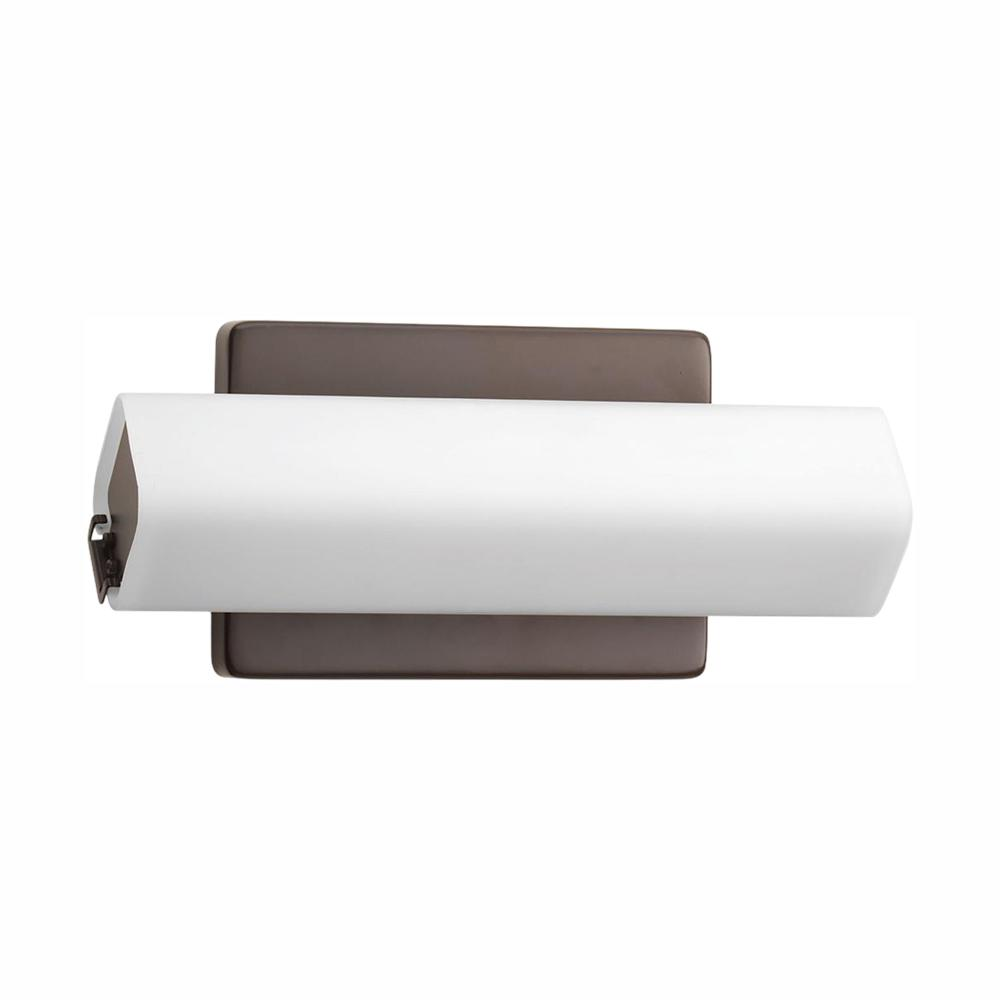 Progress Lighting Wedge Collection 15-Watt Architectural Bronze Integrated LED Linear Bathroom Vanity Light with Glass Shades