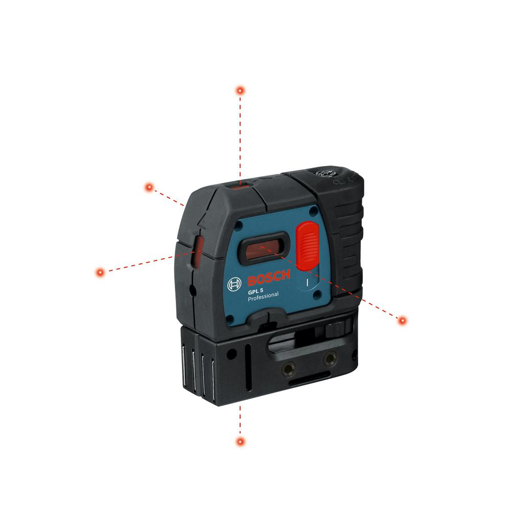 Bosch 100 ft. 5 Self Leveling Plumb and Square Point Laser