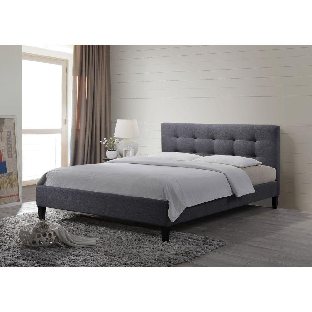 Hermosa Gray King Upholstered Bed