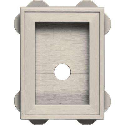 5.5 in. x 8.625 in. #048 Almond Wrap Around Mounting Block