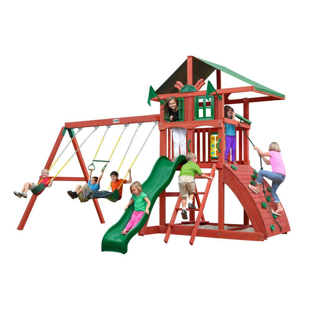 gorilla playsets highcrest cedar swing set 01 0079 the home depot
