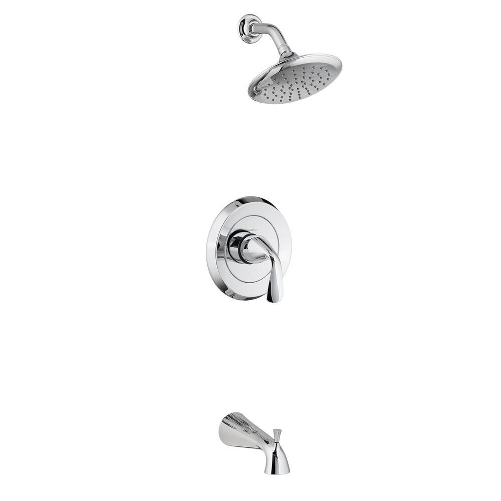 Fluent 1-Handle Tub and Shower Faucet Trim Kit in Polished Chrome