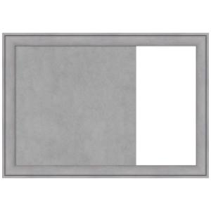 Graywash Wood 30.38 in. x 21.38 in. Framed Magnetic, Dry Erase Combo Memo Board
