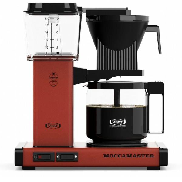 KBG 10-Cup Brick Red Drip Coffee Maker