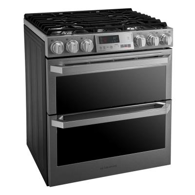 7.3 cu. ft. Slide-In Double Oven Smart Dual-Fuel Range with ProBake Convection and Wi-Fi Enabled in Stainless Steel