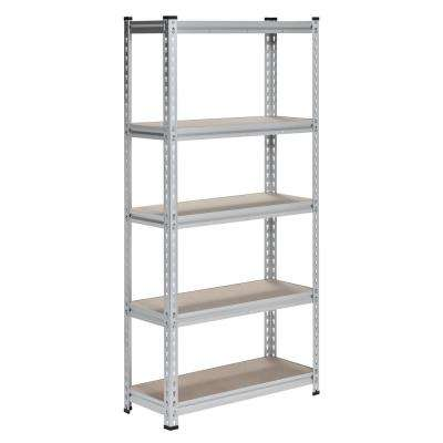 60 in. H x 30 in. W x 12 in. D 5-Shelf Boltless Aluminum Shelving Unit
