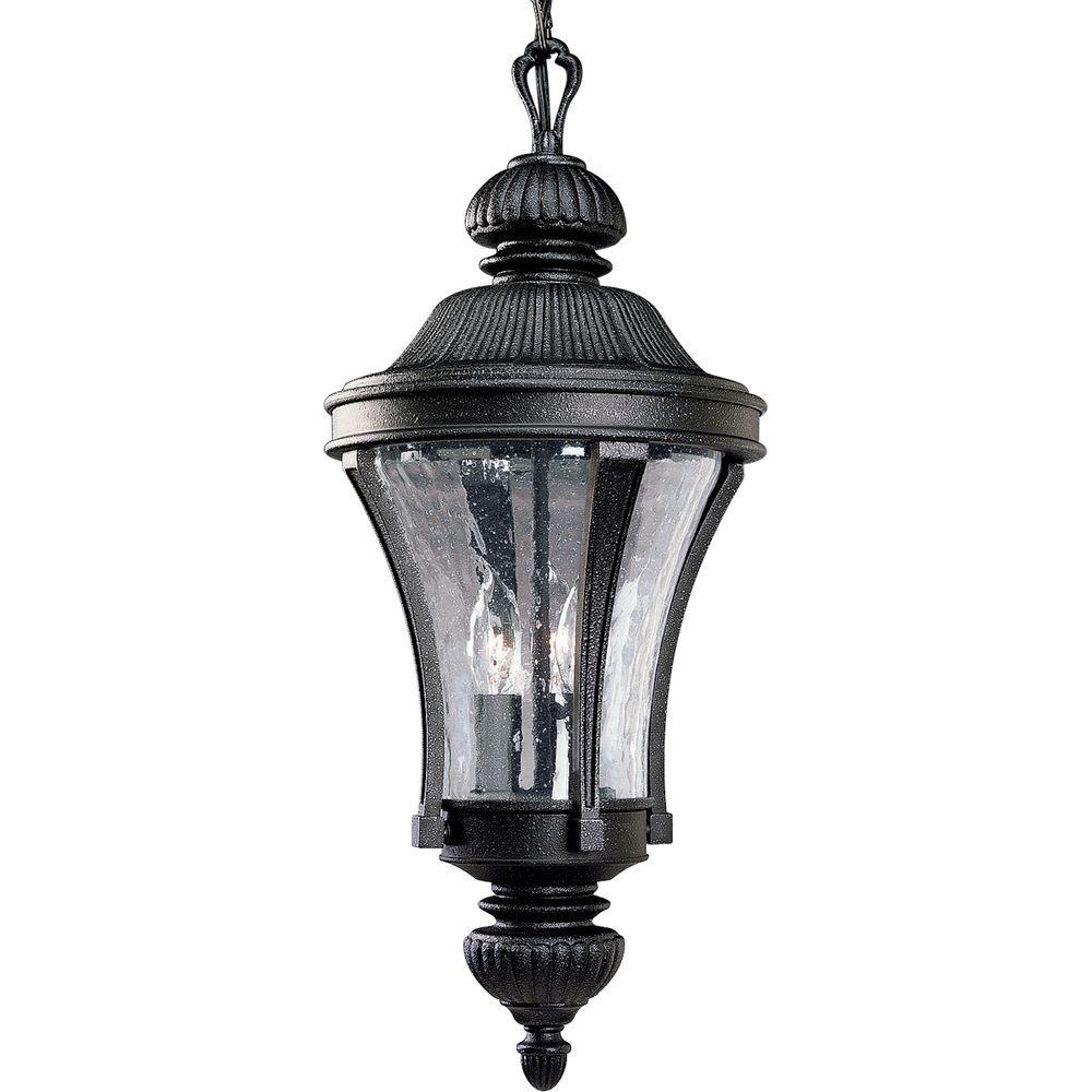 Progress Lighting Nottington Collection 3-Light Gilded Iron Outdoor Hanging Lantern
