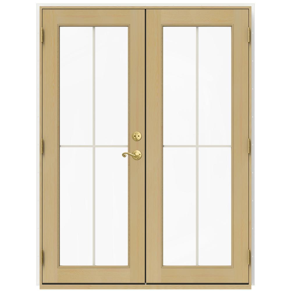 Jeld wen 59 5 in x 79 5 in w 2500 brilliant white right for Door 31 5 x 79