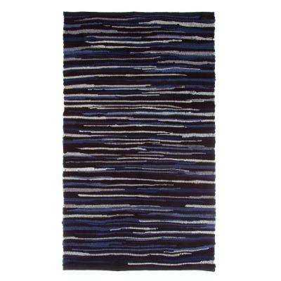 Chindi Tonal Black 2 ft. 3 in. x 3 ft. 9 in. Area Rug