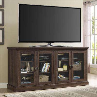Wood Oak TV Stands Living Room Furniture The Home Depot