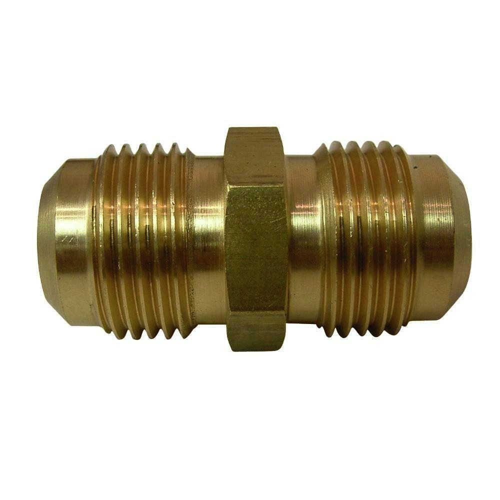 Everbilt 3/8 in  Lead-Free Brass Flare Union Fitting