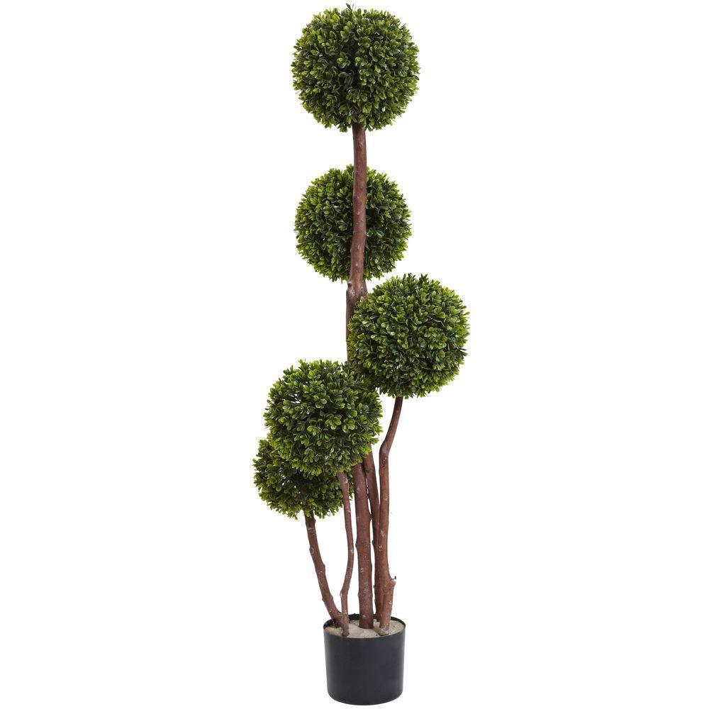 4 ft. Boxwood Topiary UV Resistant (Indoor/Outdoor)