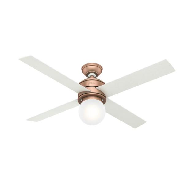 Hepburn 52 in. LED Indoor Satin Copper Ceiling Fan with Light